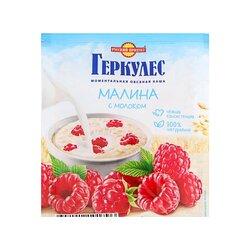 Каша Русский продукт Геркулес Овсяная с малиной и молоком, 35 г