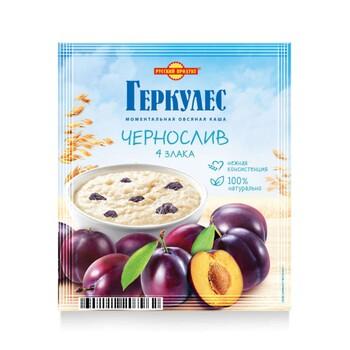 Каша Русский продукт Геркулес Овсяная 4 злака с черносливом, 35 г