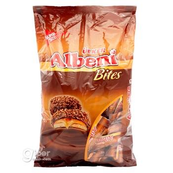 Печенье Ülker Albeni Bites в молочном шоколаде с карамелью, 500 г