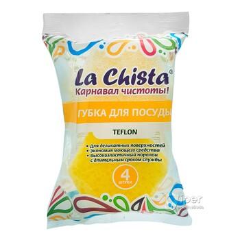 "Губки для посуды La Chista ""Тефлон"", 4 шт"