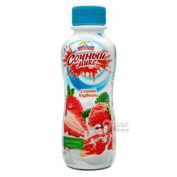 """""""Альпенгурт"""" Напиток Сочный Микс с соком клубники 0,1%, 420 г"""