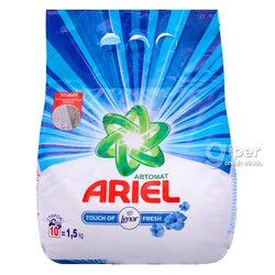 Стиральный порошок Ariel Touch of Lenor Fresh (автомат) 1,5 кг пластиковый пакет