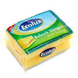 Губка для мытья посуды Ecolux, 1 шт
