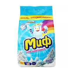 Стиральный порошок Миф Автомат 3в1 Свежий цвет, 6 кг пластиковый пакет