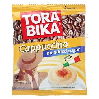 "Kofe ""Tora bika"" Cappuccino şekersiz, şokolad owuntyklary bilen, 12.5 gr"