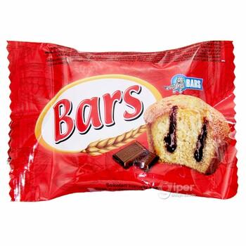 """Кекс """"BARS"""" с шоколадной начинкой, 30 г"""