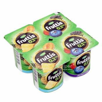 Йогурт Fruttis ананас, дыня, лесные ягоды 0,1%, 110 г