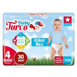 Детские трусики Baby Turco № 4 maxi, 8-14 кг, 30 шт