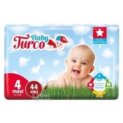 Детские подгузники Baby Turco № 4 maxi, 8-14 кг, 44 шт