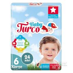 Детские подгузники Baby Turco № 6 XLarge, 16+ кг, 24 шт