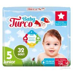 Детские подгузники Baby Turco № 5 Junior, 12-25 кг, 32 шт