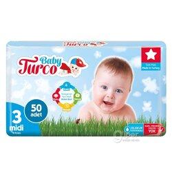 Детские подгузники Baby Turco № 3 midi, 5-9 кг, 50 шт
