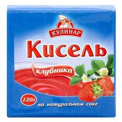 """Кисель на натуральном соке """"Кулинар"""" клубника, 220 г"""