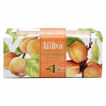 Натуральное увлажняющее мыло La diva Абрикос, 10 шт х 22,5 г