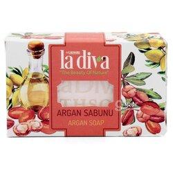 Натуральное увлажняющее мыло La diva  Аргановое, 100г ± 5г