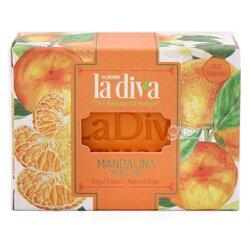 Натуральное увлажняющее мыло La diva  Мандарин, 120г ± 5г