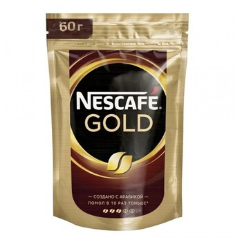 Кофе Nescafe Gold, пакет, 60 гр