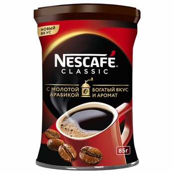 Кофе  Nescafe classic c молотой арабикой, 85 г