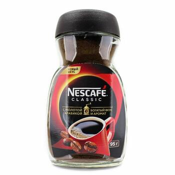 Кофе  Nescafe classic c молотой арабикой, 95 г