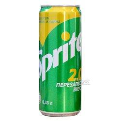 Газированный напиток Sprite со вкусом лимона лайма, 033 л