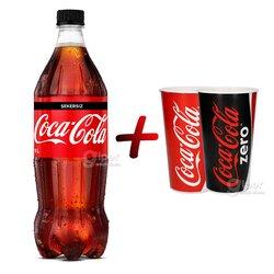 Газированный напиток Coca-Cola без сахара, 1 Л