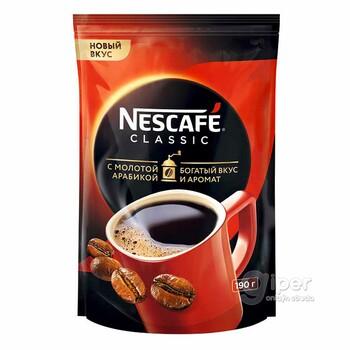 Кофе  Nescafe classic c молотой арабикой, 190 г