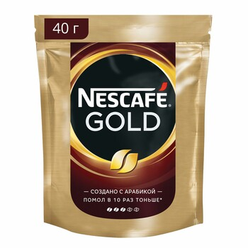 Кофе Nescafe Gold, пакет, 40 гр