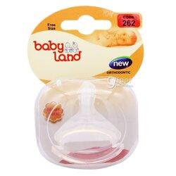 Çüýşeler üçin silikon emzik Baby land, 262, 1 sany