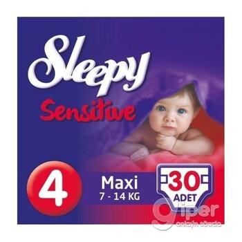 Подгузники Sleepy Sensitive Maxi 4, 7-14 кг, 30 шт