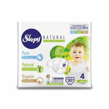 Подгузники Sleepy Natural Maxi 4, 7-14 кг, 30 шт