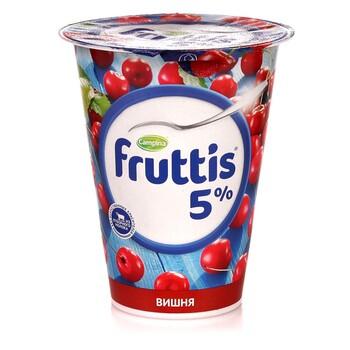 Йогурт Fruttis Cливочное c  вишней 5.0%, 290 г