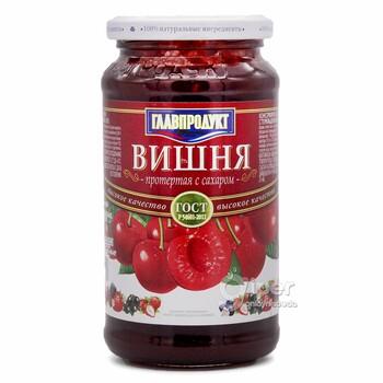Протертая вишня Главпродукт с сахаром, 550 г