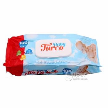 """Влажные салфетки для детей """"Baby Turco"""", 100 шт"""