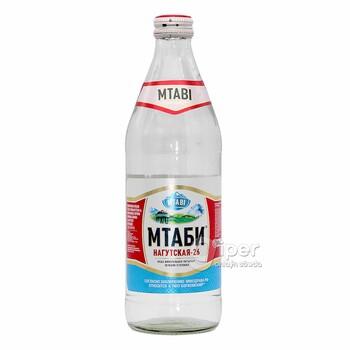 """MTABI Вода минеральная питьевая """"Нагутская-26"""", 0,5 л"""