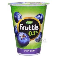 Йогурт Fruttis Cливочное c  черникой 0,1 %, 310 г