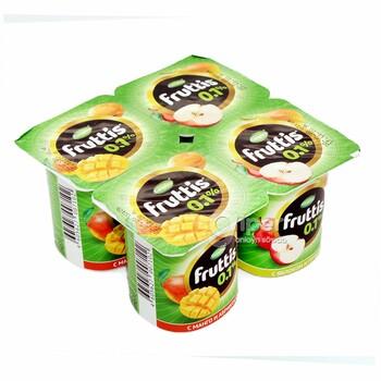 Йогуртный продукт Fruttis легкий абрикос-манго / яблоко-груша 0,1%, 110 г