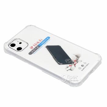 Силиконовый чехол для Apple iPhone 11 (6.1), прозрачный