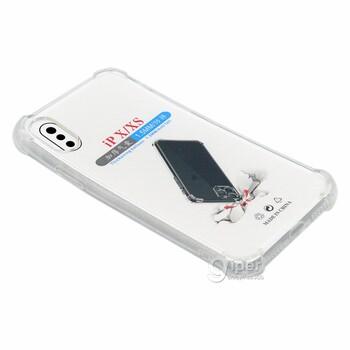 Силиконовый чехол для Apple iPhone X/XS, прозрачный