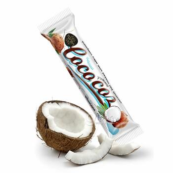 """""""Toren"""" кокосовый батончик, покрытый молочной смесью, 24 г"""