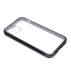 Чехол из металла с магнитной адсорбцией для Apple iPhone 11 Pro, прозрачный-чёрный