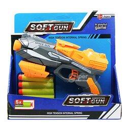 Бластер SOFT GUN с мягкими пулями 5x (826-25) желтый
