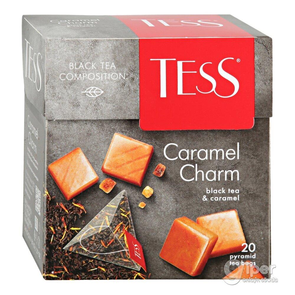 """Чай черный Tess """"Caramel Charm"""" в пирамидках, 20 шт"""