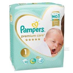 Детские подгузники Pampers premium care 1, 2-5 кг (20 шт)