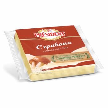 Плавленный Сыр President с грибами, 40%, 150 г