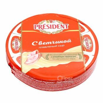 """Плавленный сыр President """"С ветчиной"""" 45%, 140 г"""