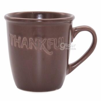 """Кружка темно-коричневый керамический """"Thankful"""""""