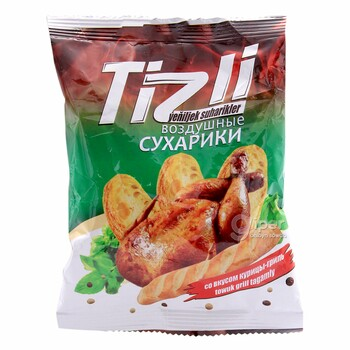 """Ýeňiljek suharikler """"Tizli"""" towuk gril tagamly, 30 gr"""