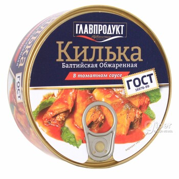 Килька Балтийская обжаренная в томатном соусе, 230 г