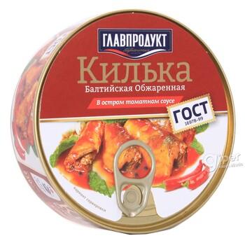 Килька Балтийская обжаренная в остром томатном соусе, 230 г