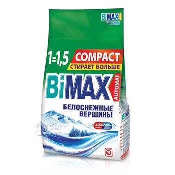 Стиральный порошок Bimax Белоснежные вершины Compact (автомат) 1.5 кг пластиковый пакет